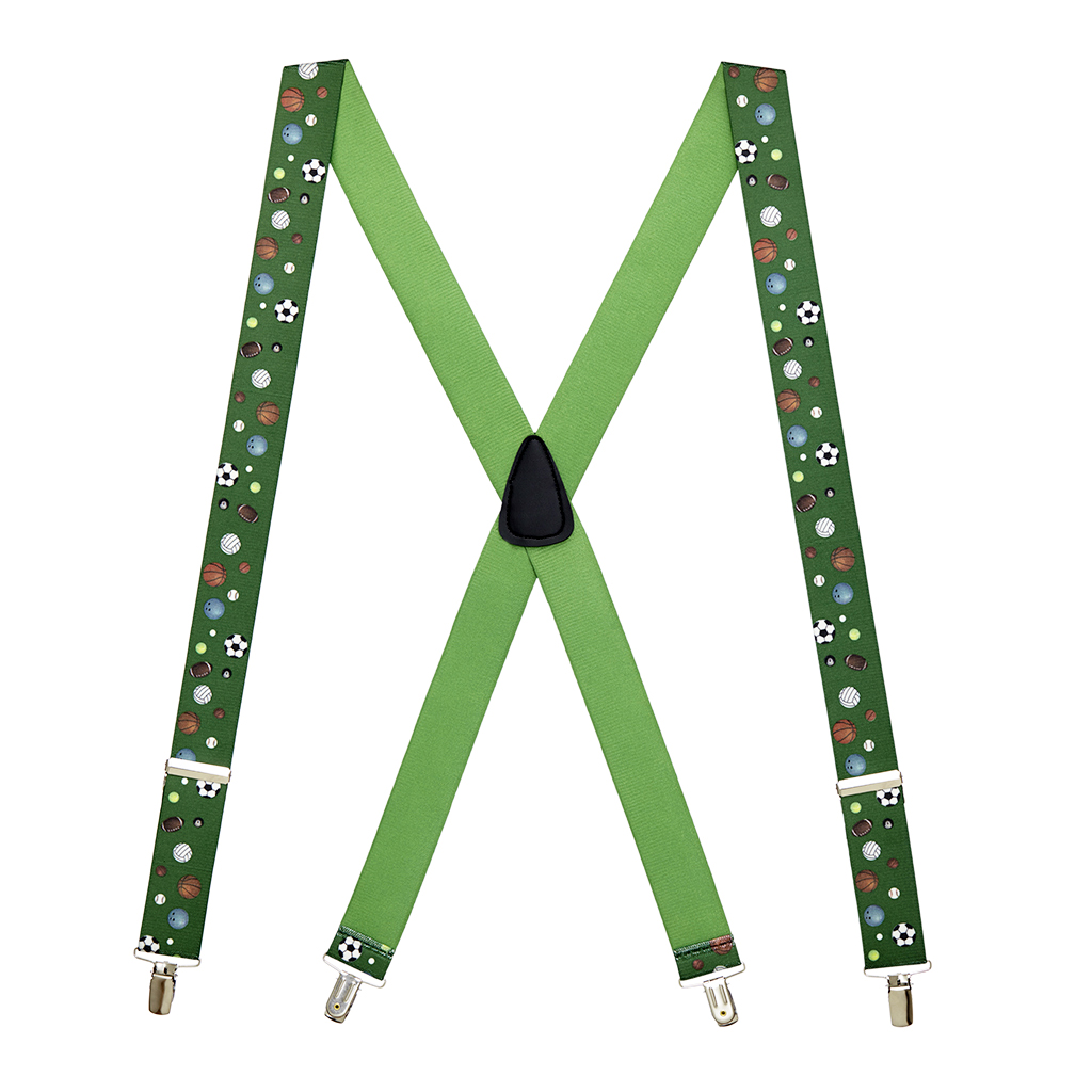Sports Ball Suspenders - Full View