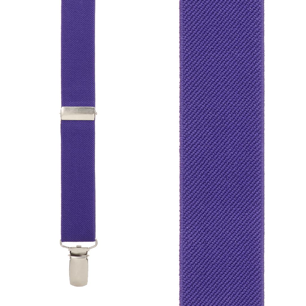 Suspenders in Purple - Front View