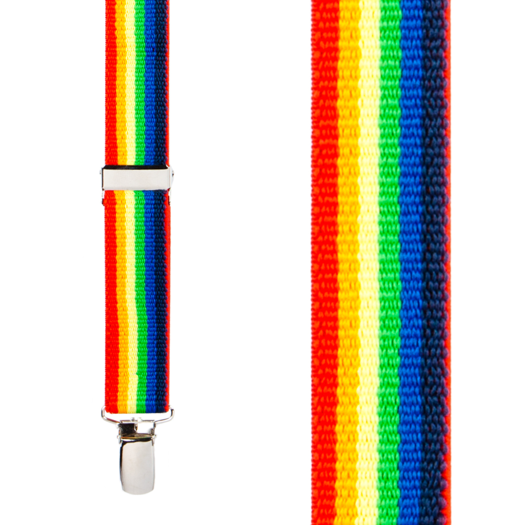 Rainbow Suspenders for Kids - Front View