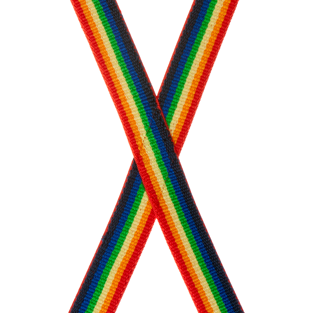 Rainbow Suspenders for Kids - Rear View