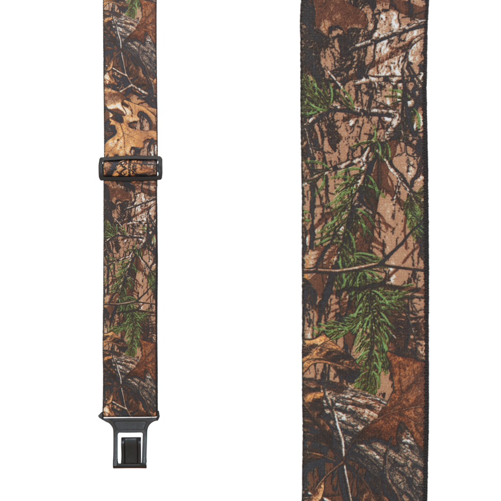 Perry Suspenders - Front View - Realtree Xtra Hardwood