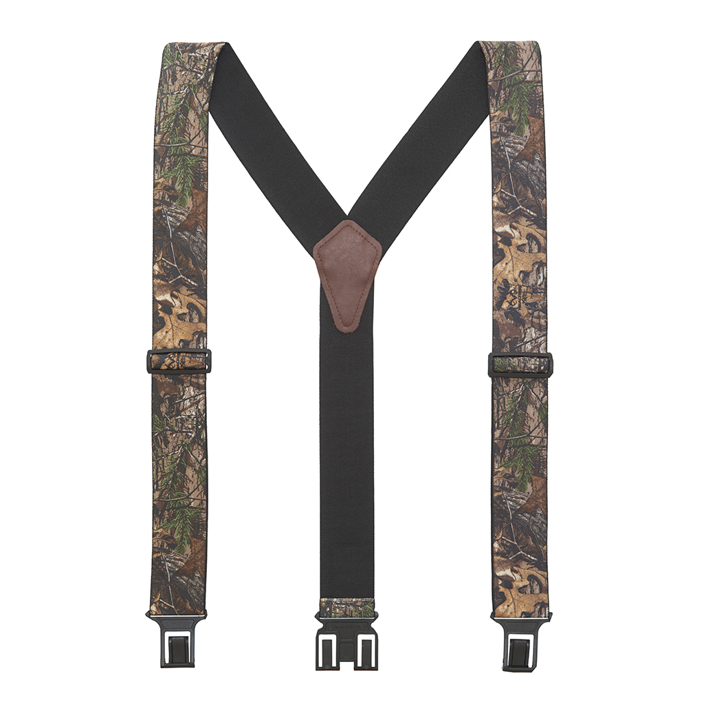 Perry Suspenders - Full View - Realtree Xtra Hardwood