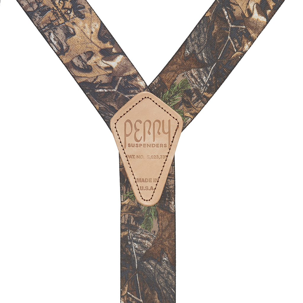 Perry Suspenders - Rear View - Realtree Xtra Hardwood