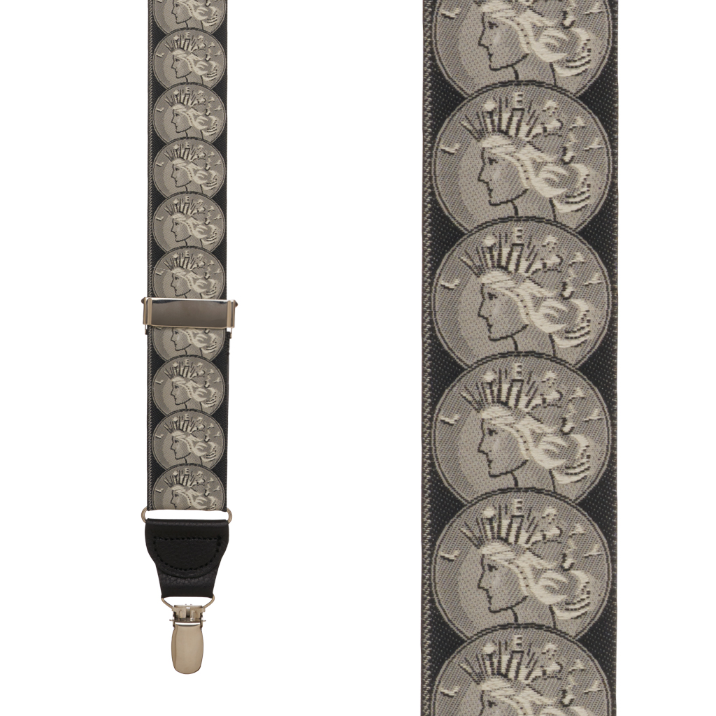 Coin of the Realm Suspenders - Front View