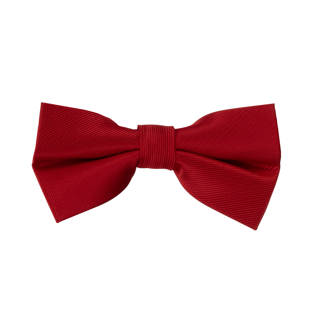 Twill Bow Tie in Red