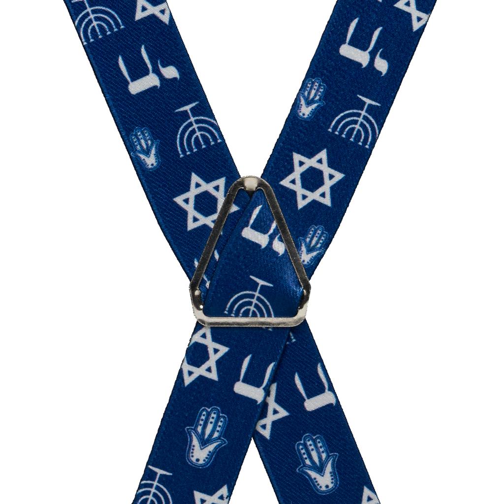 Star of David Suspenders - Rear View