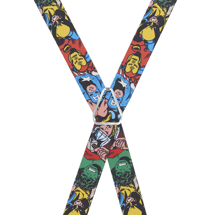 Avengers Suspenders - Rear View