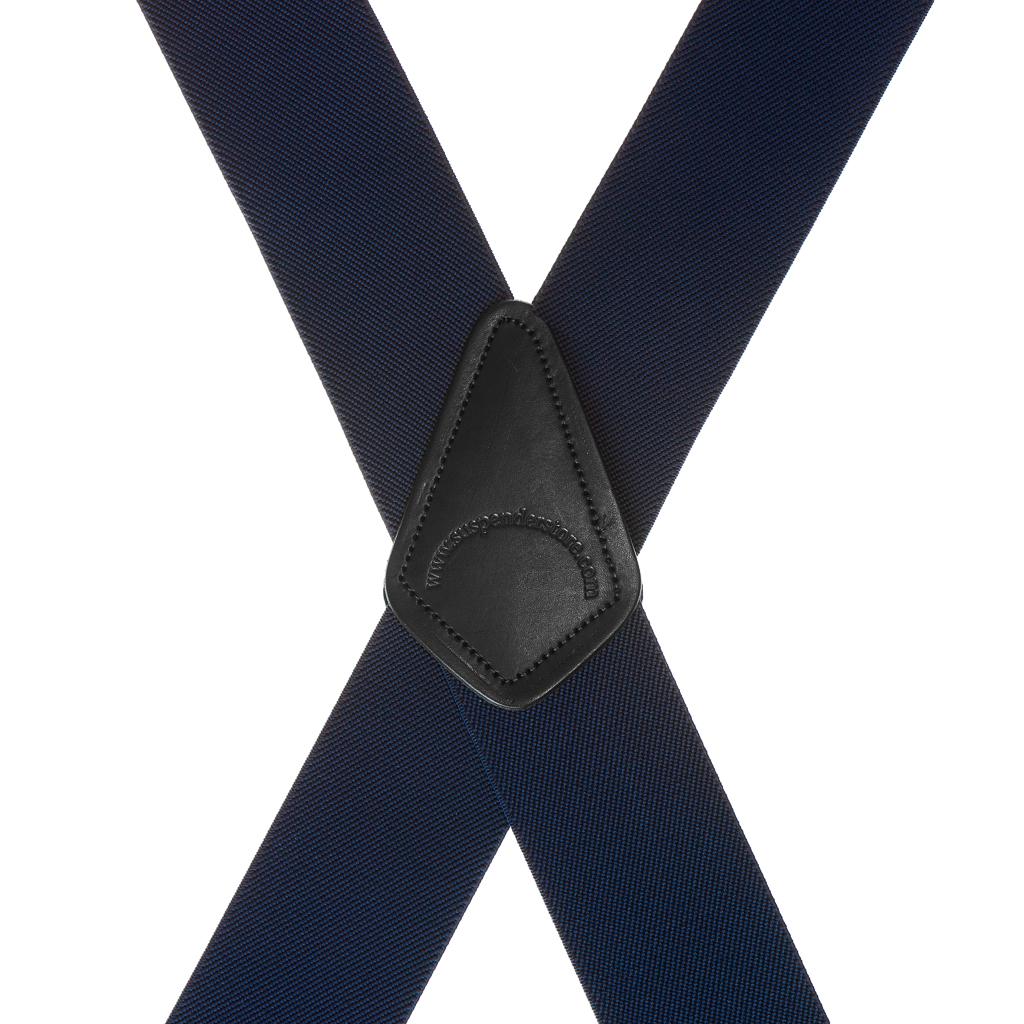 Navy Blue Side Clip Suspenders - Construction Clip - Rear View