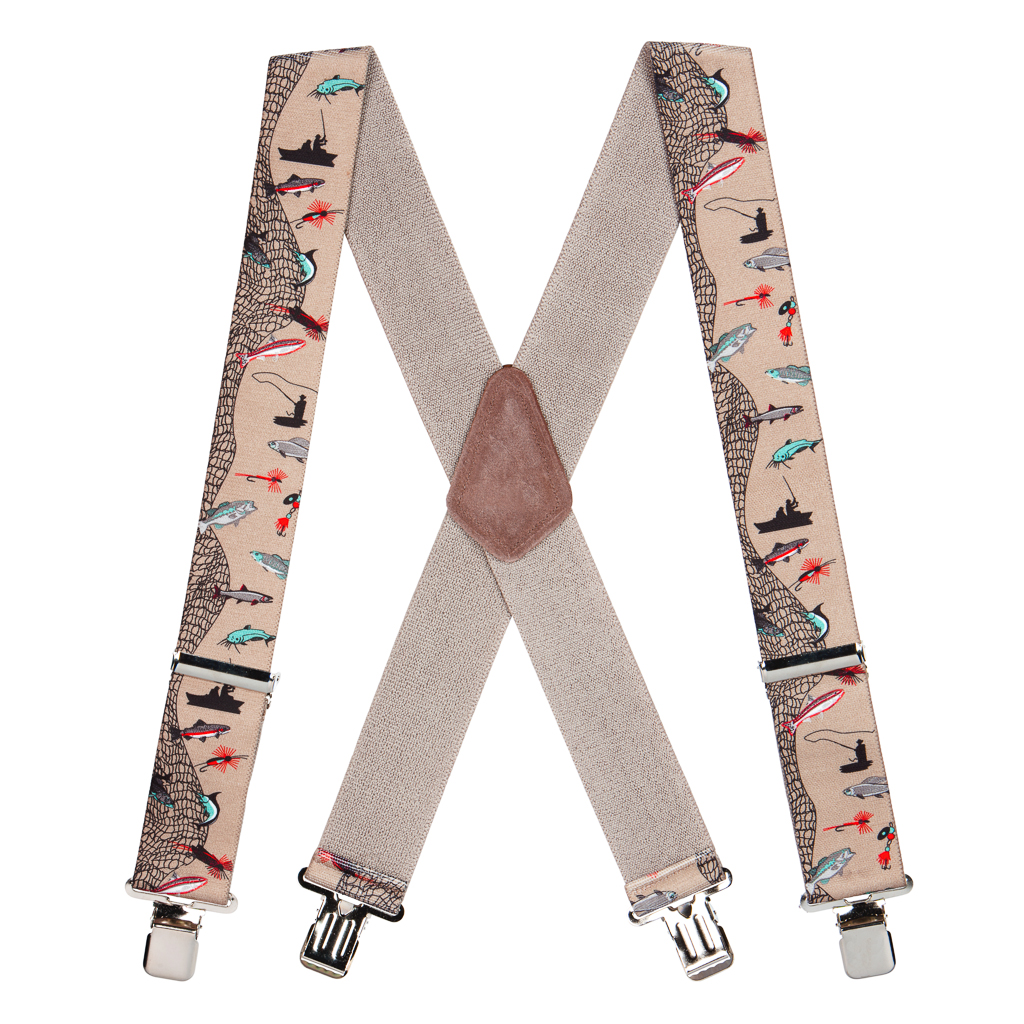 Classic Suspenders - Full View - Fisherman