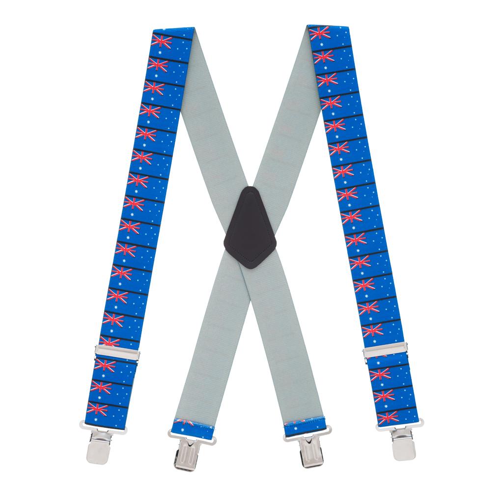 Australian Flag Suspenders - Full View