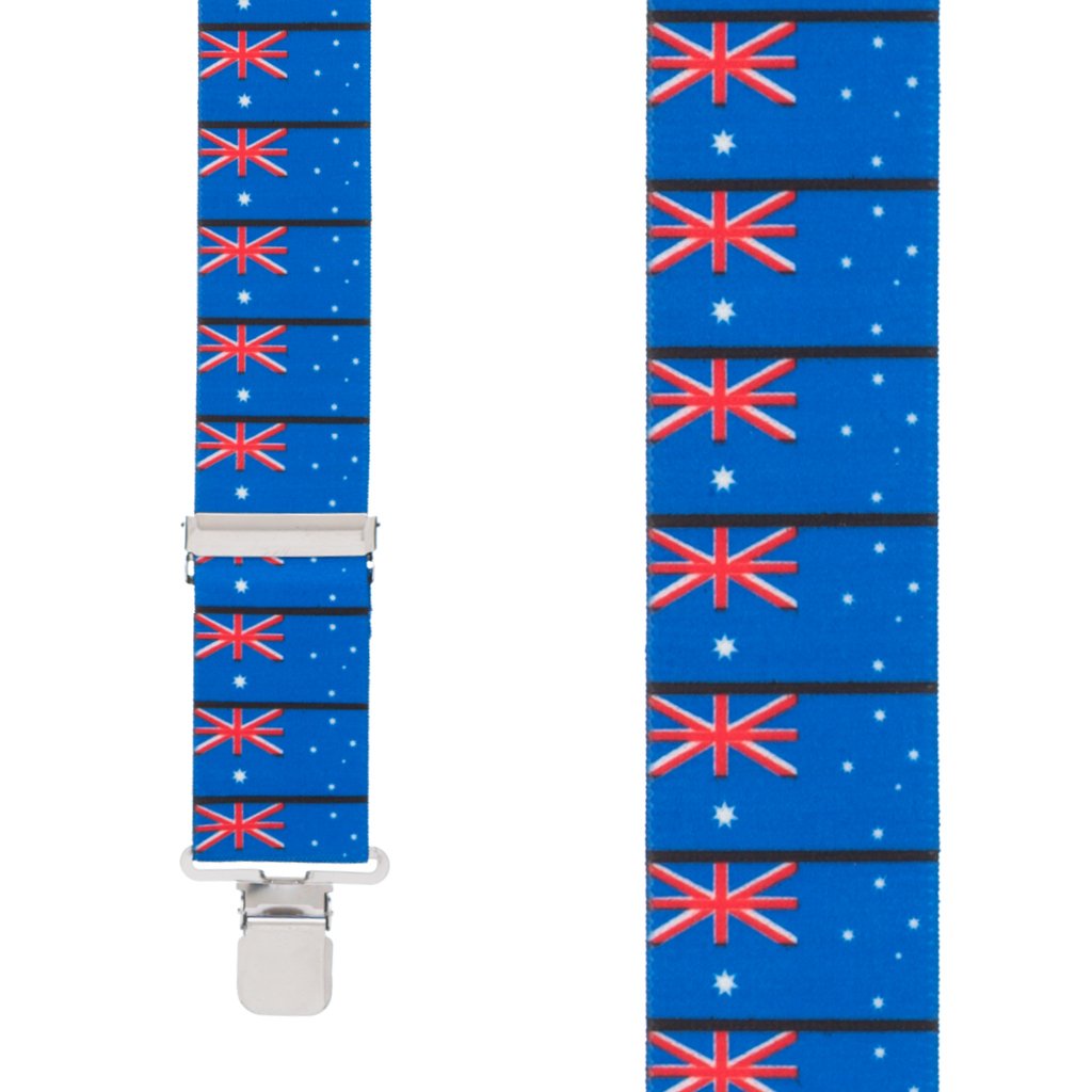 Australian Flag Suspenders - Front View