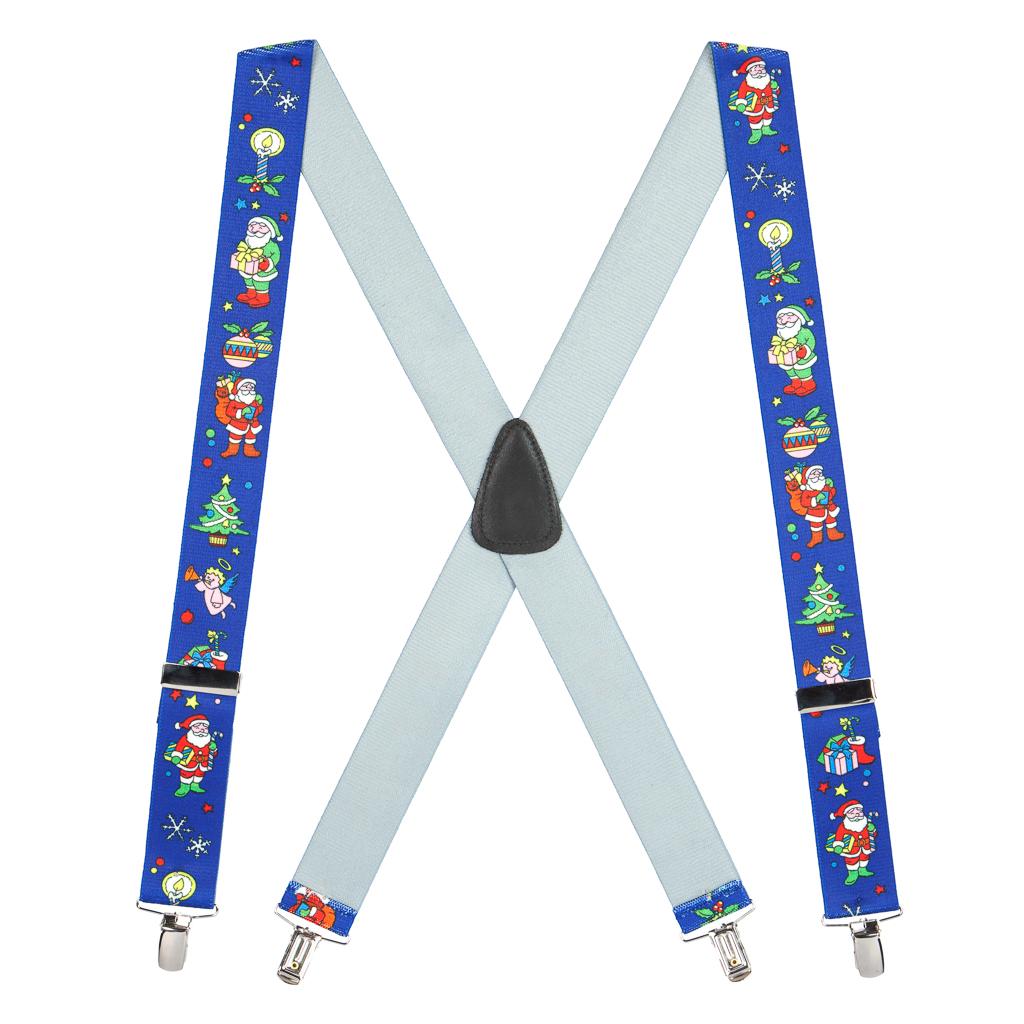 Santa on Blue Suspenders - Full View