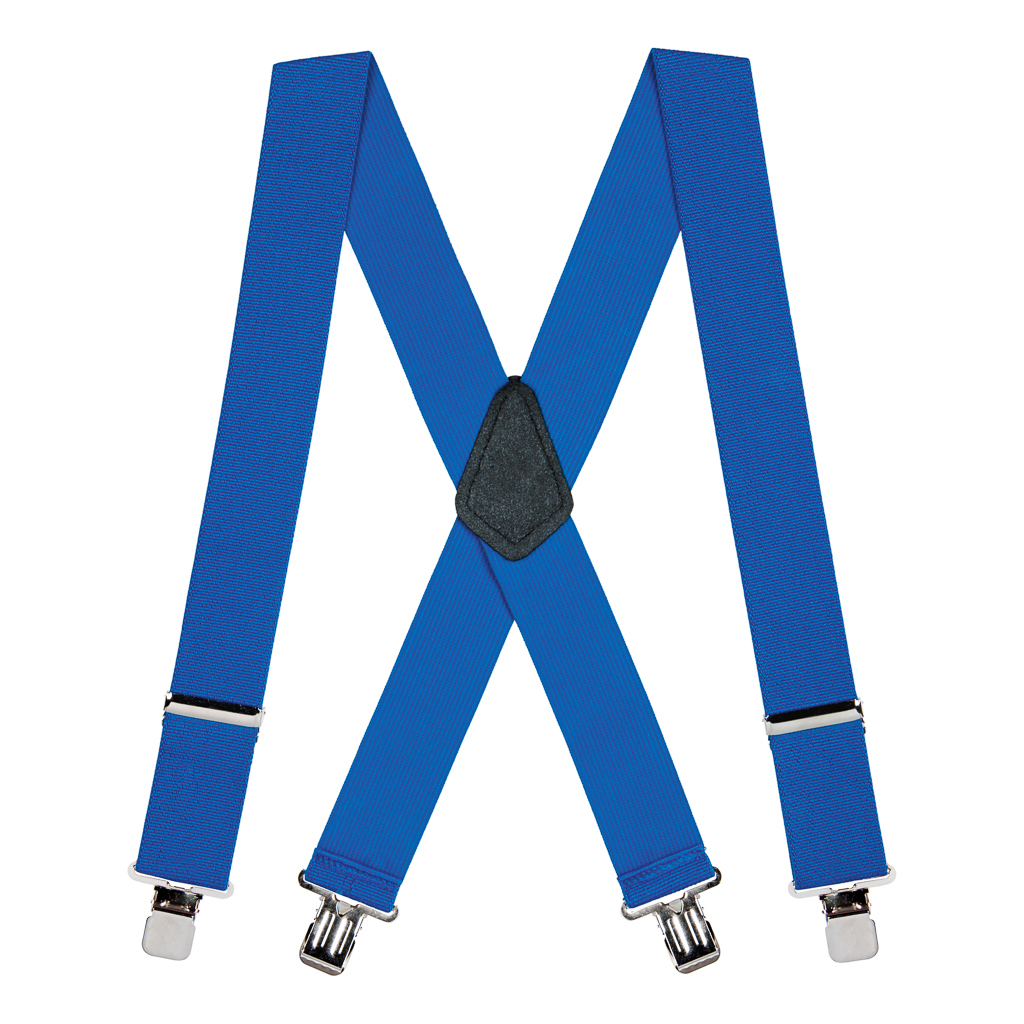 Classic Suspenders - Full View - Royal Blue