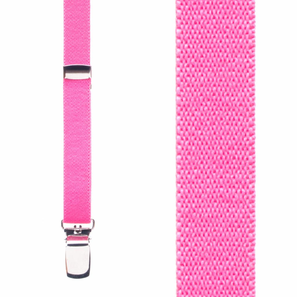 Skinny Suspenders in Neon Pink - Front View