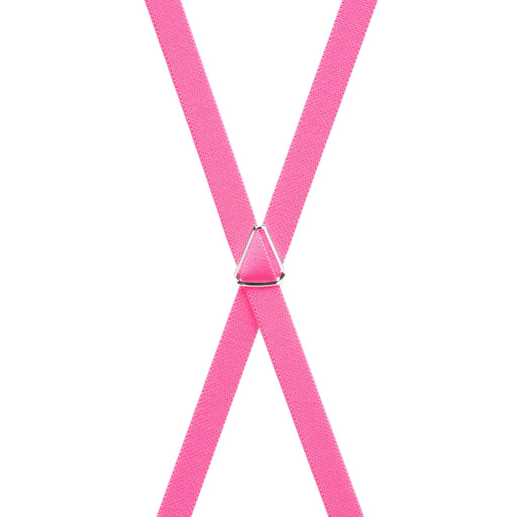 Skinny Suspenders in Neon Pink - Rear View