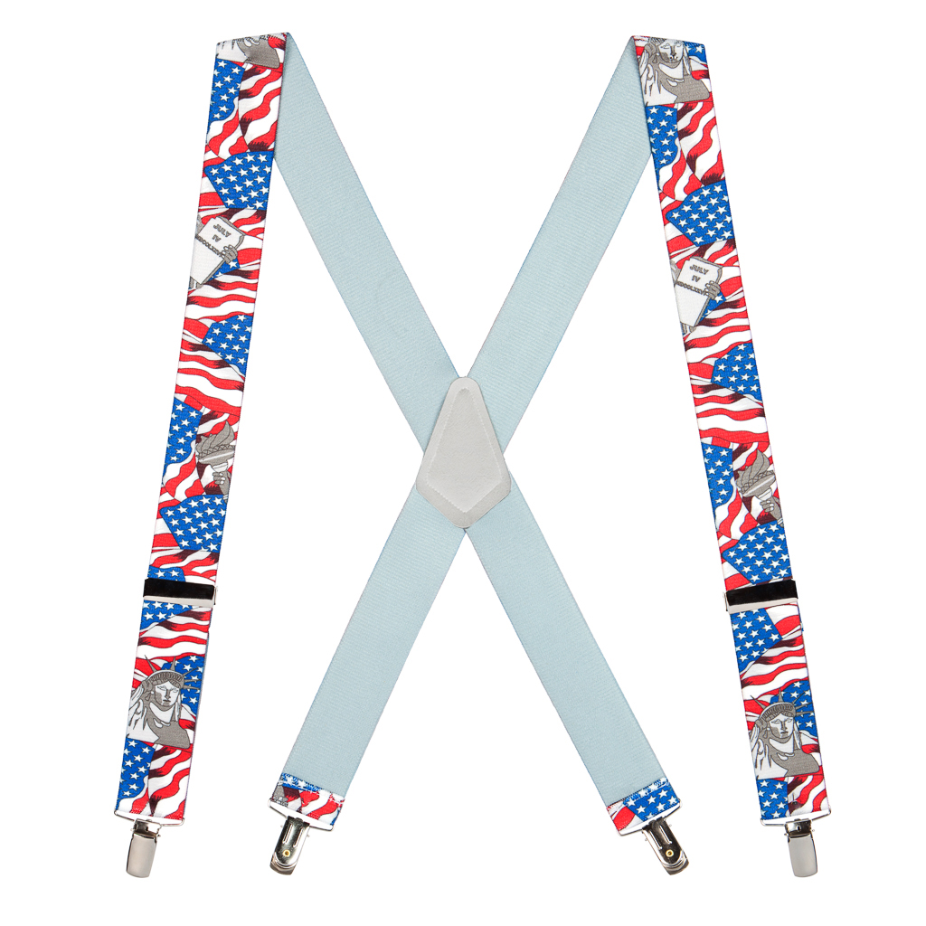 Full View - USA Liberty Suspenders - 1.5 Inch Wide