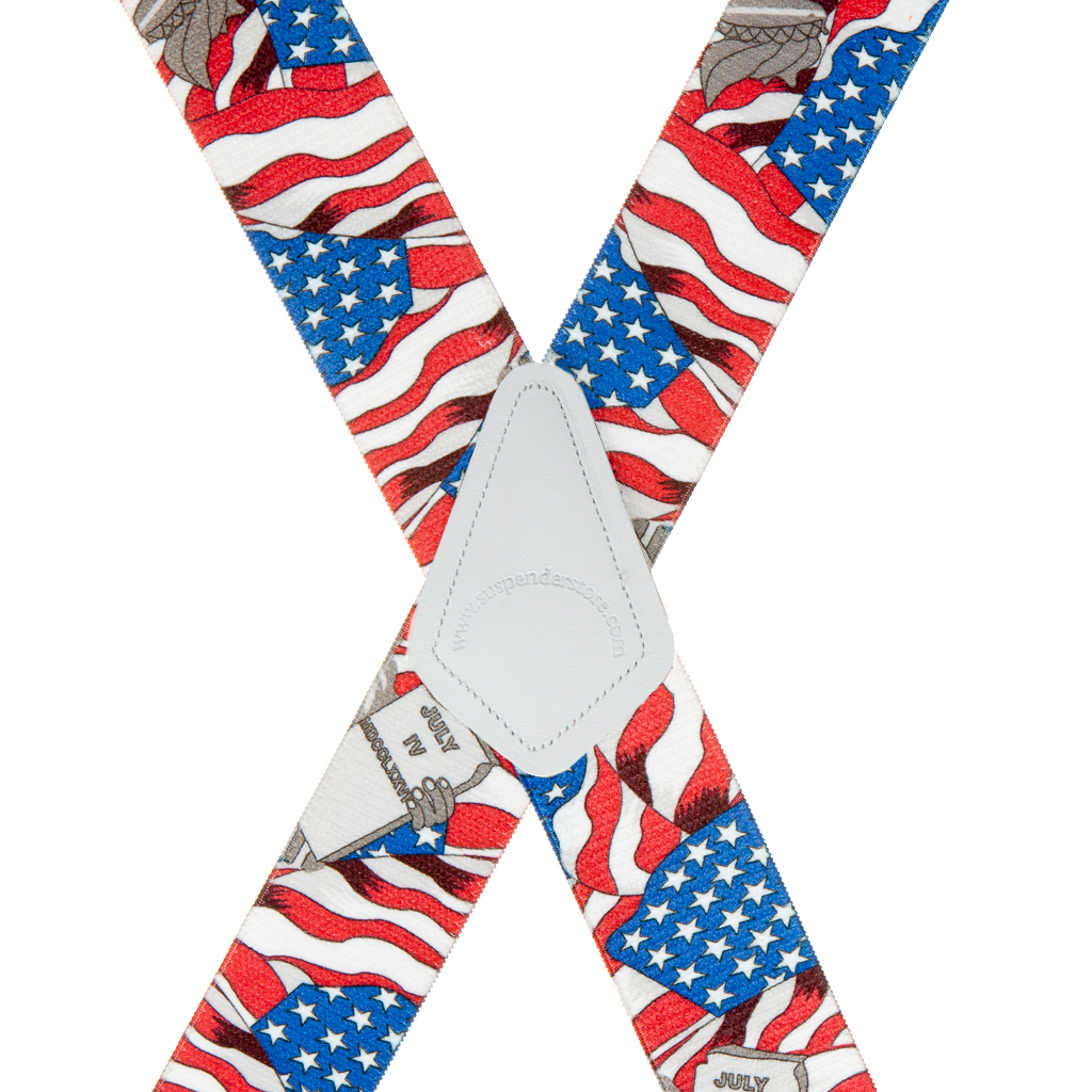 Rear View - USA Liberty Suspenders - 1.5 Inch Wide