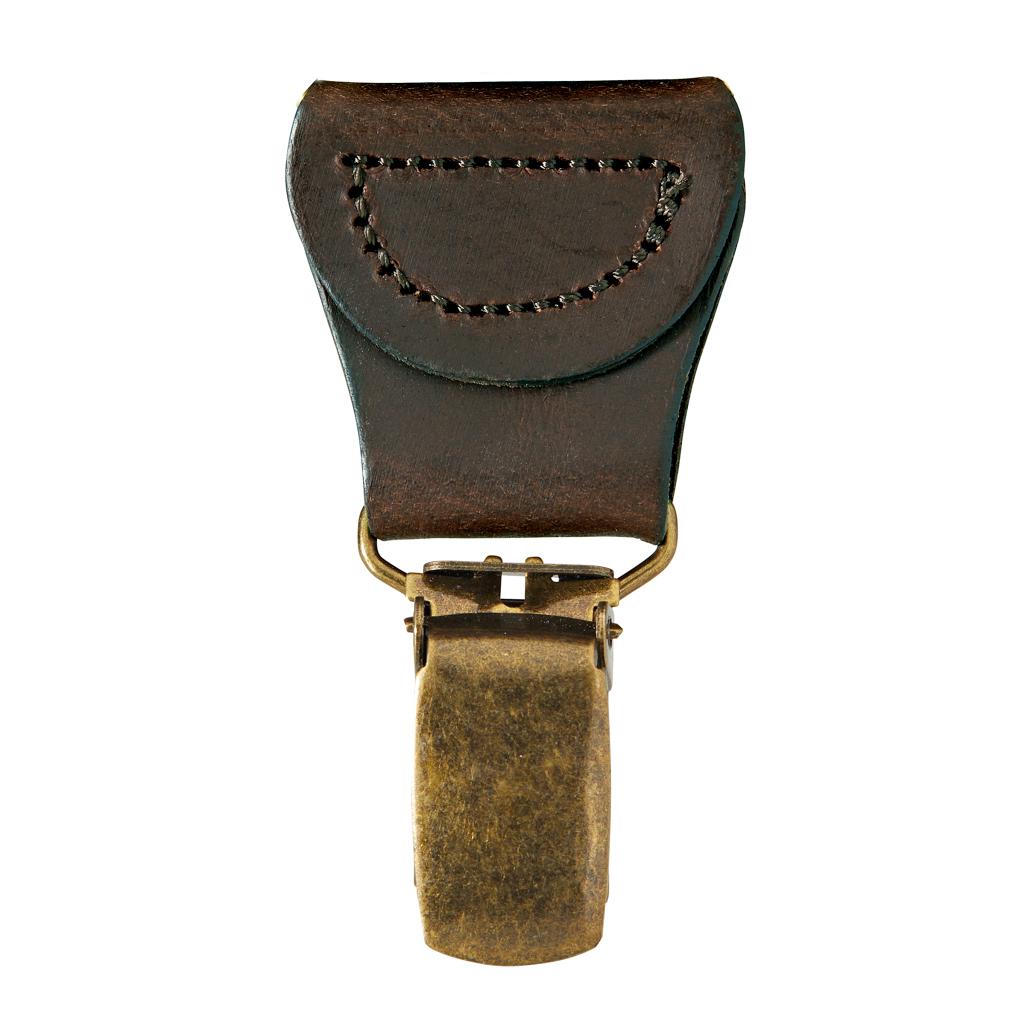 Drop Clip Brown - Antique Brass