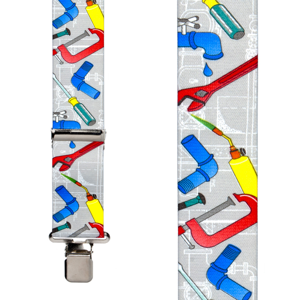 Plumber Suspenders - Front View