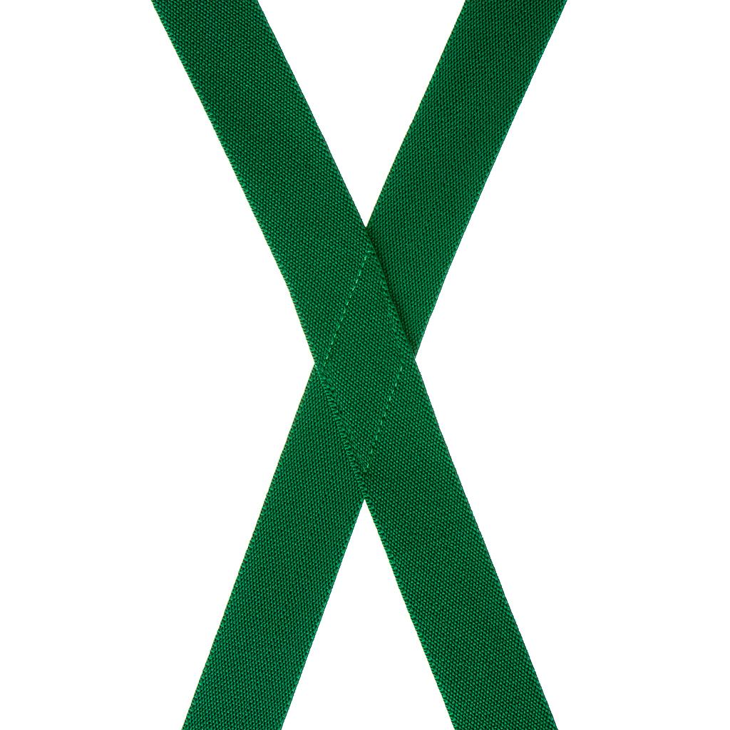 1-Inch Wide Suspenders in Kelly Green - Rear View