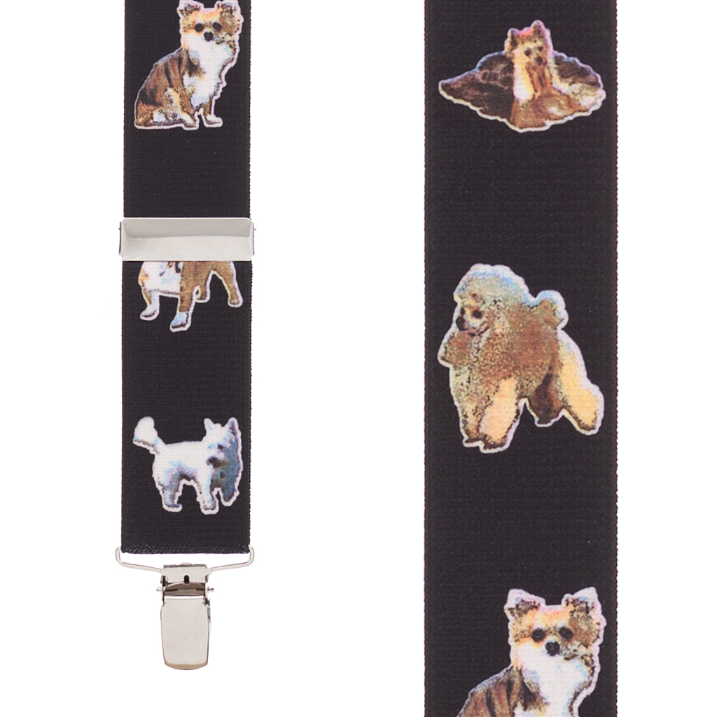 Little Dogs Suspenders - Front View