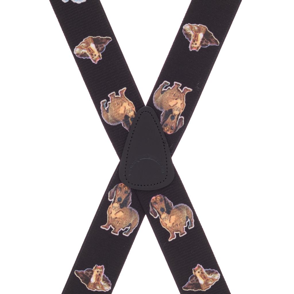 Little Dogs Suspenders - Rear View