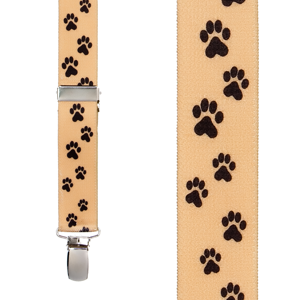 Puppy Toes Suspenders - Front View