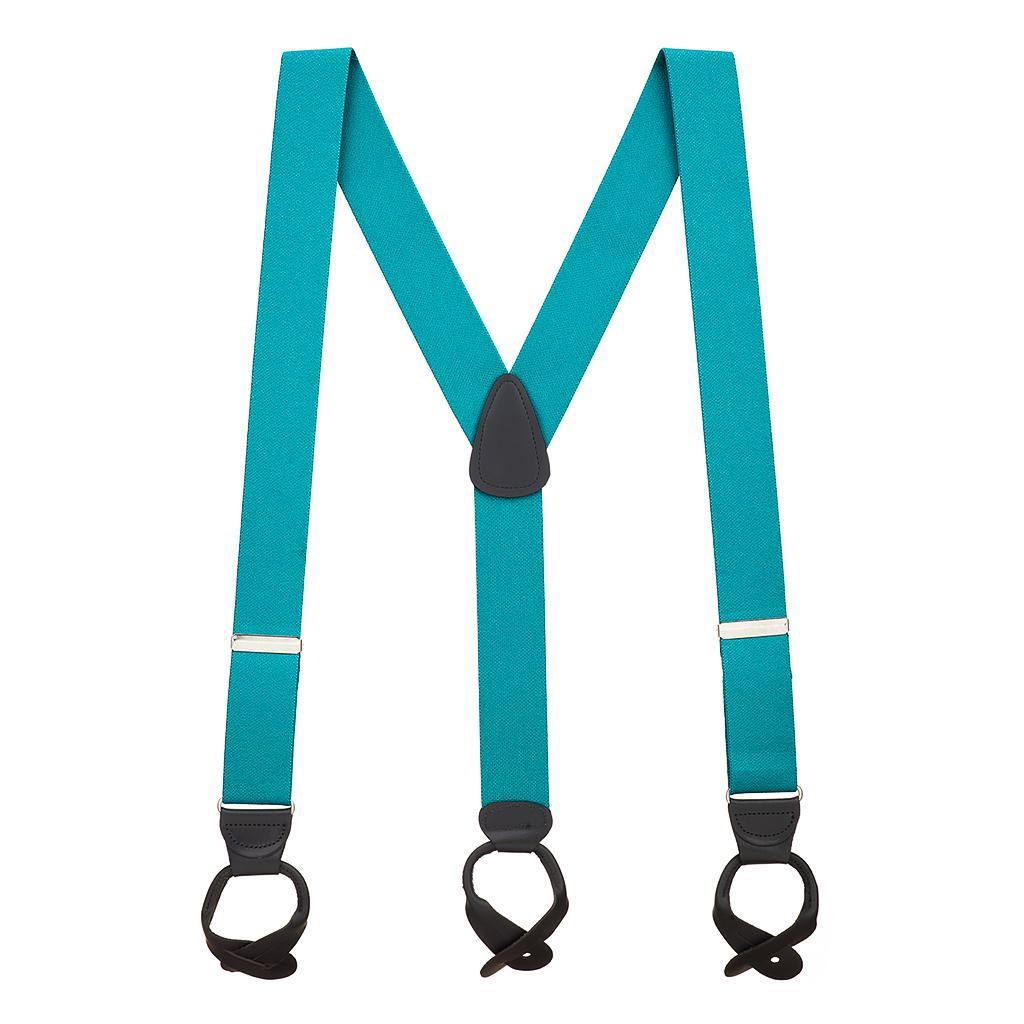 1.5 Inch Wide Suspenders in Teal - Full View