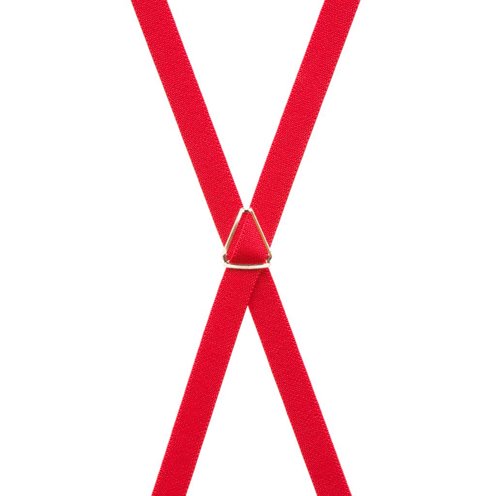 1/2 Inch Wide Skinny Suspenders - RED