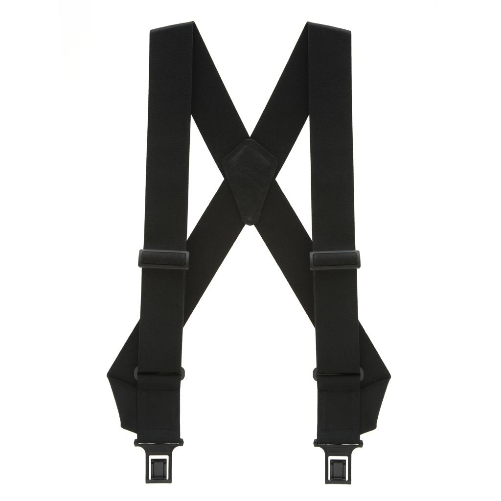 Perry Suspenders - Full View - Black Side Clip Elastic