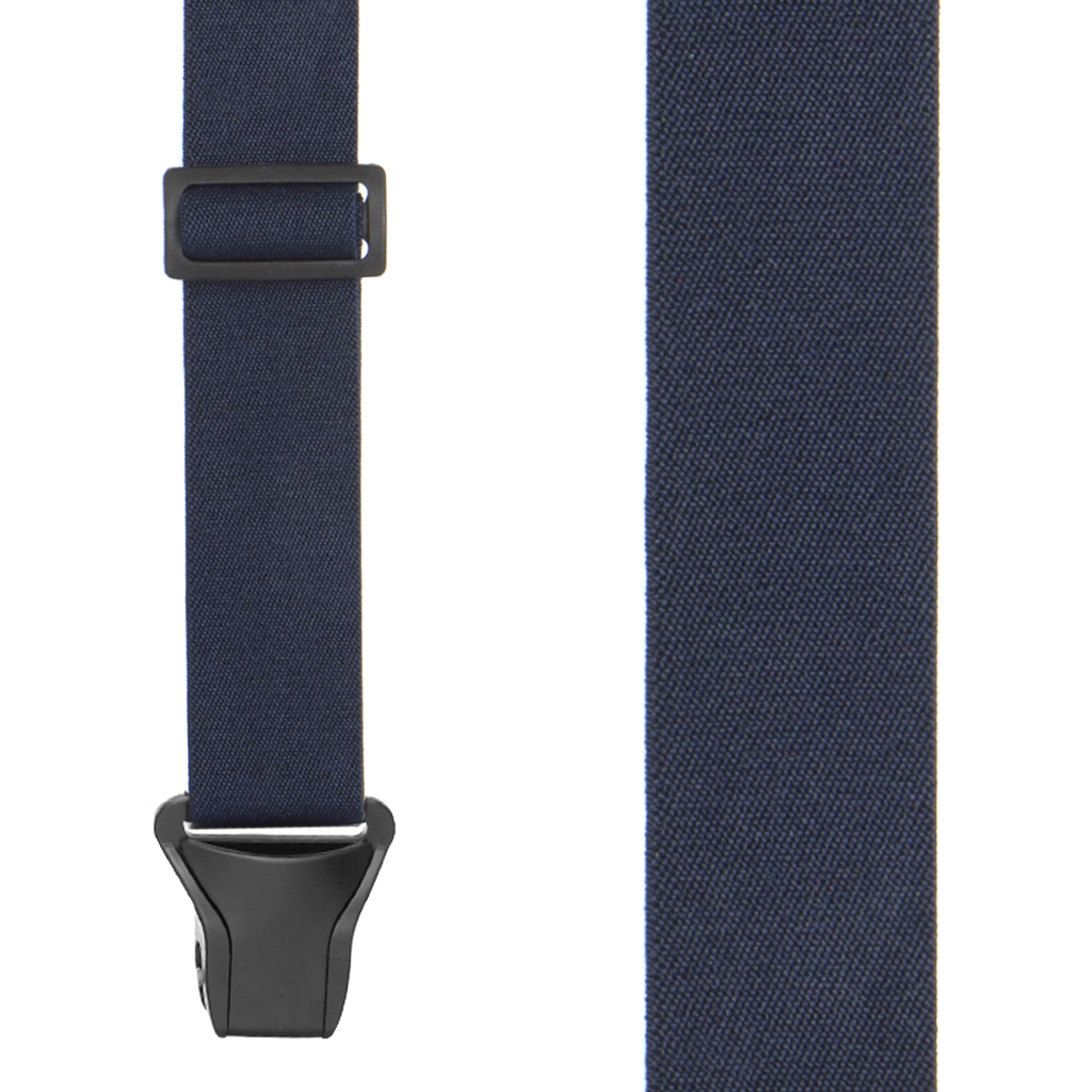 BuzzNot Suspenders in Navy Blue - Front View