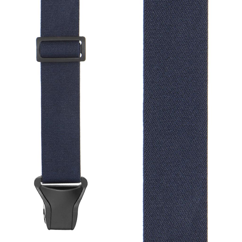BuzzNot Suspenders in Navy Blue - Front View