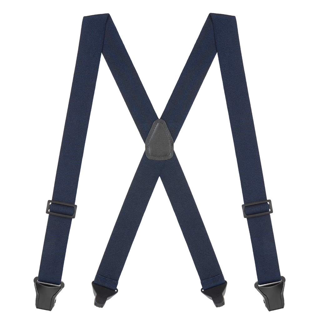 BuzzNot Suspenders in Navy Blue - Full View