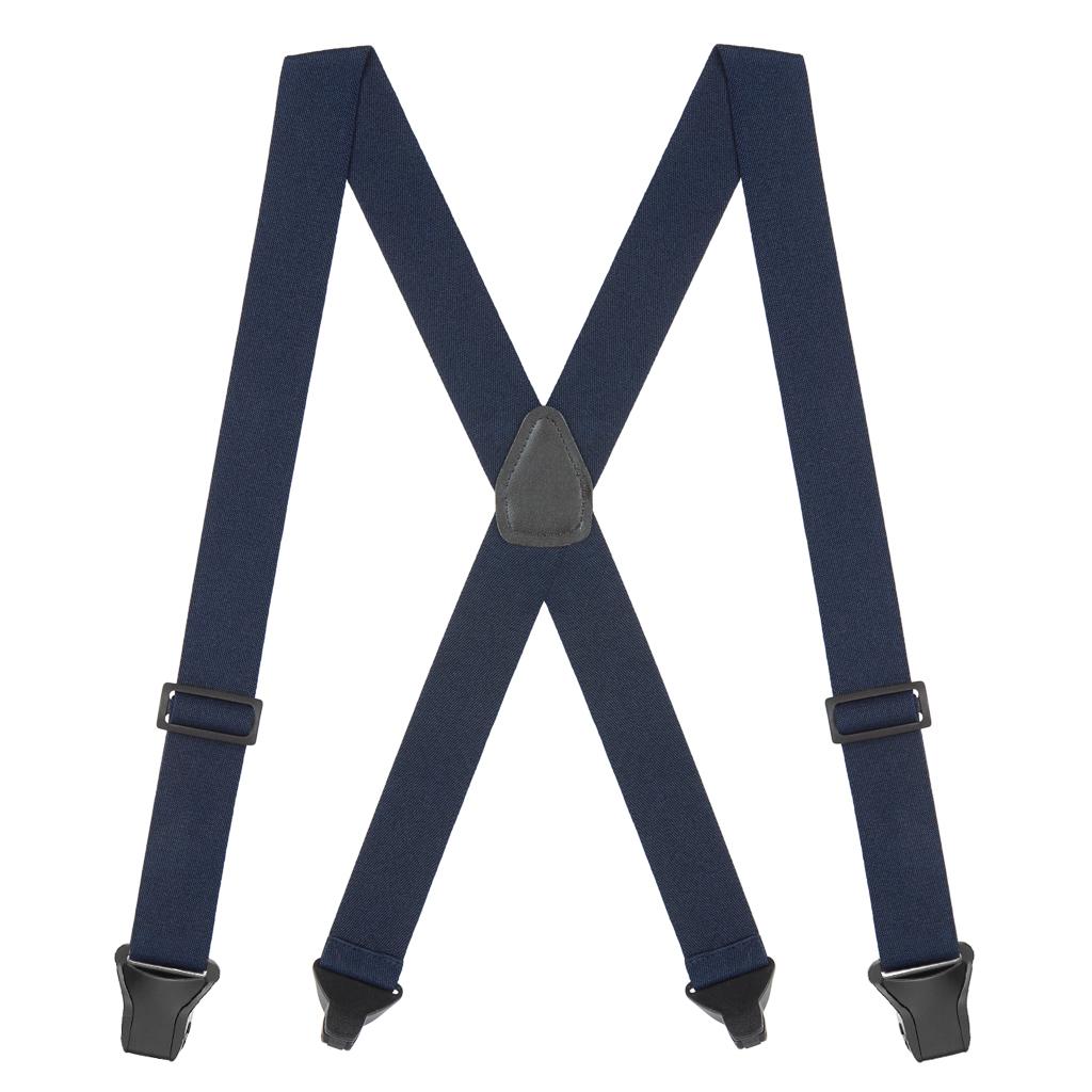 BuzzNot Suspenders in Navy Blue - Full View