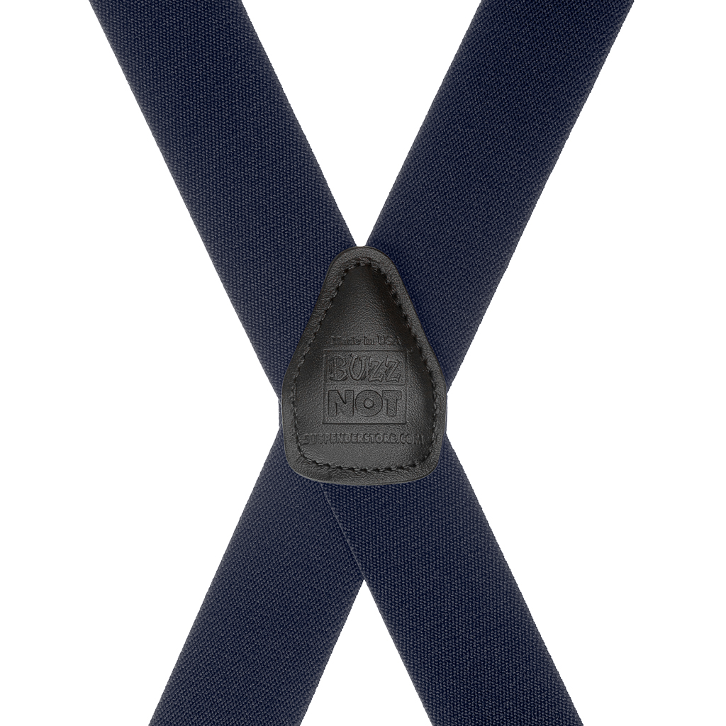 BuzzNot Suspenders in Navy Blue - Rear View