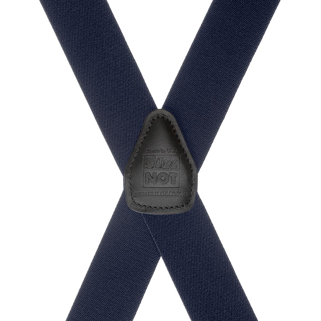 BuzzNot Suspenders in Navy Blue - Rear View