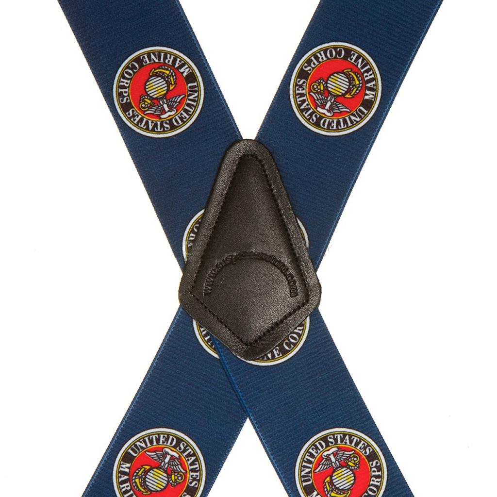 US Marines Military Blue Suspenders