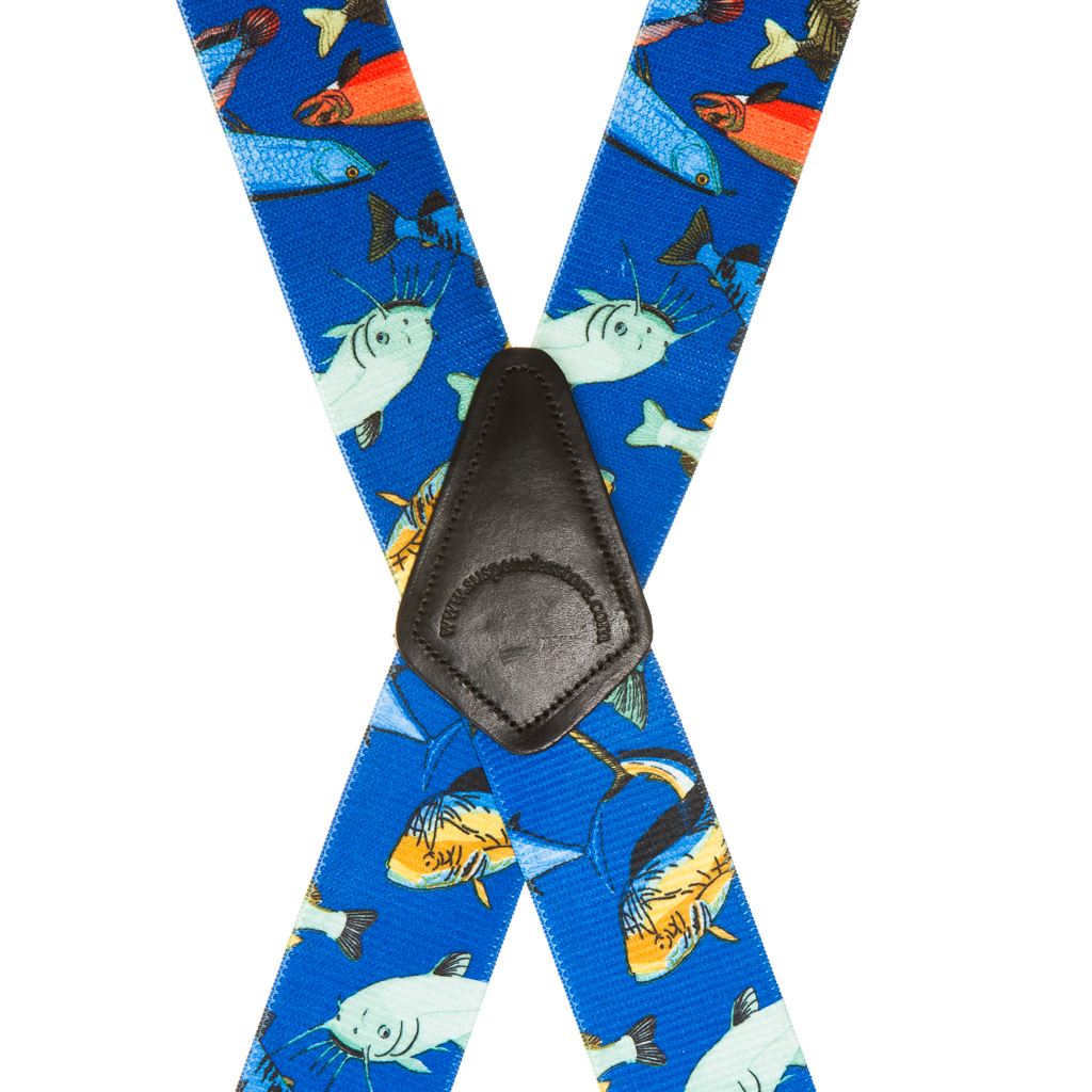 Mixed Fish Suspenders - Rear View