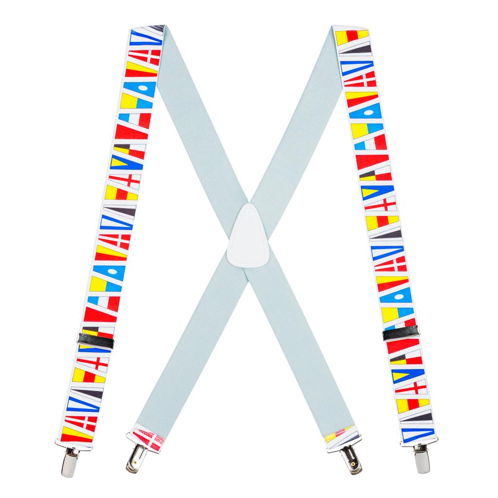 Nautical Flag Suspenders - Full View