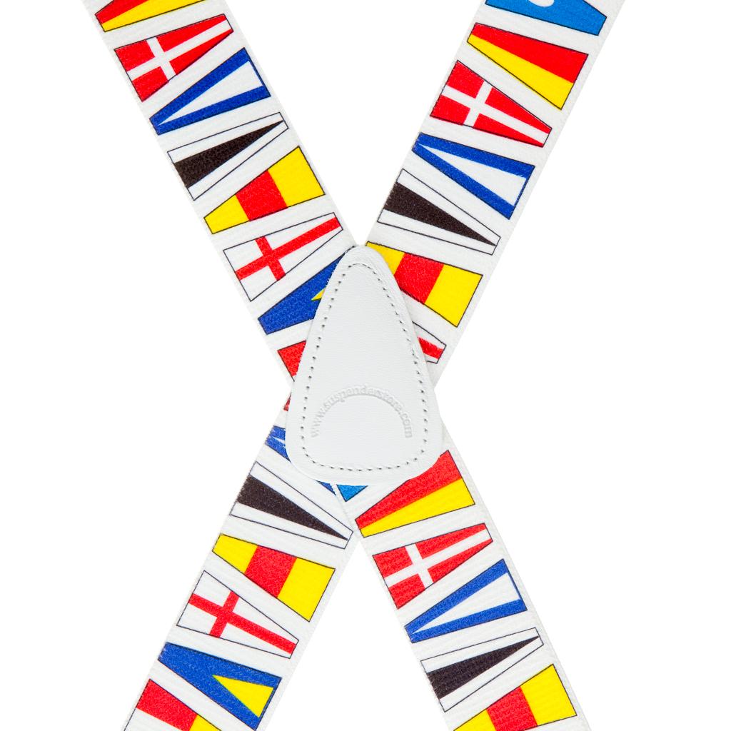 Nautical Flag Suspenders - Rear View