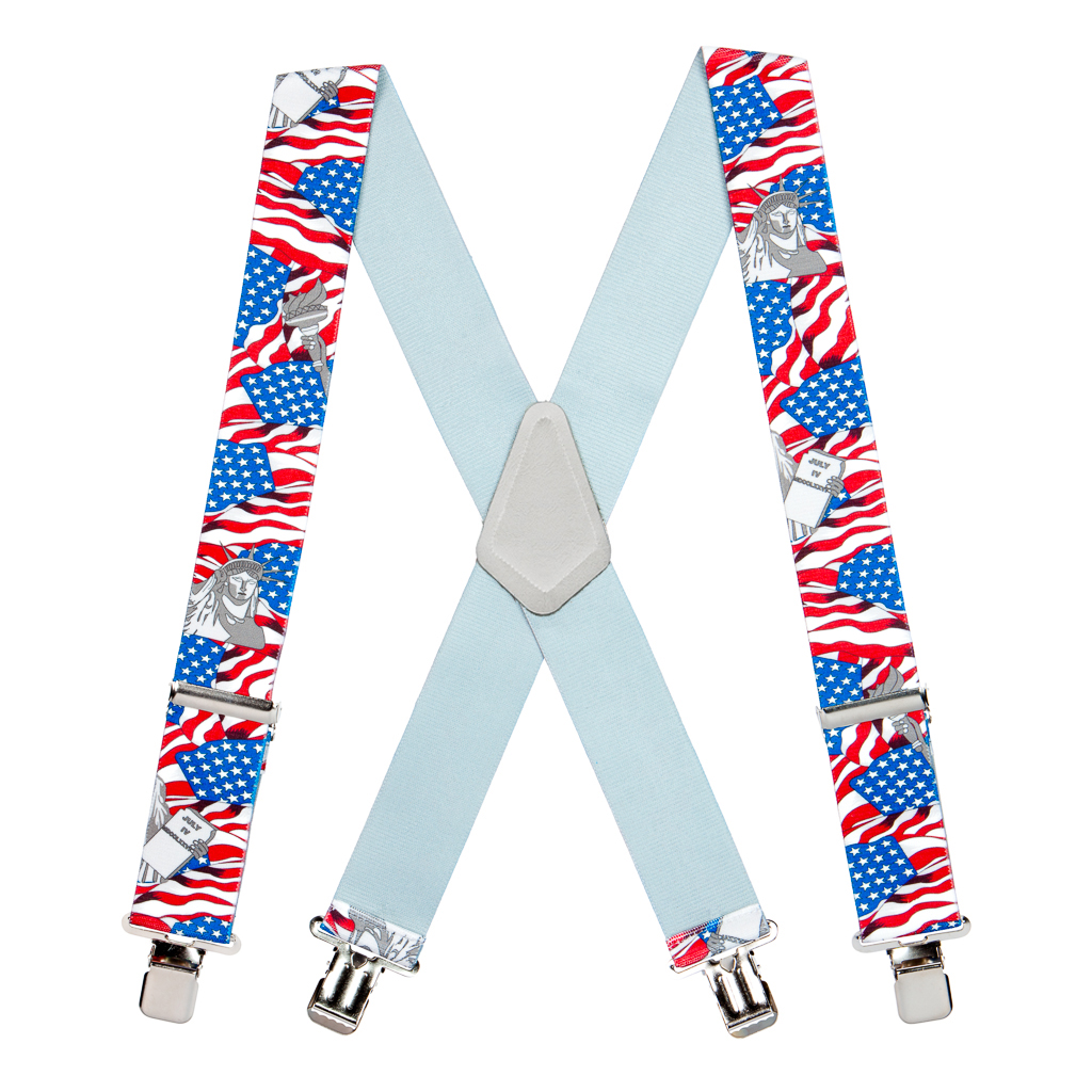 Classic Suspenders - Full View - USA Liberty