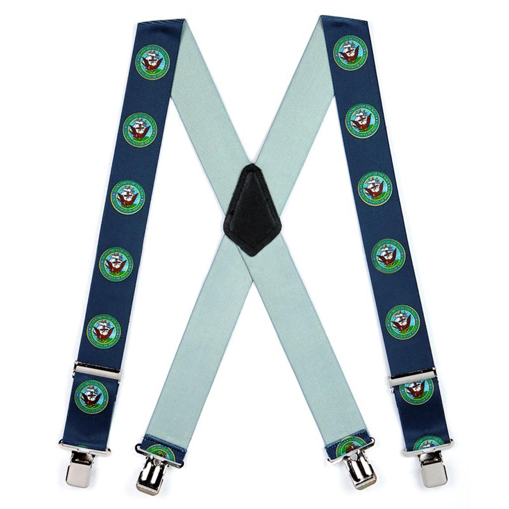 US Navy Military Suspenders - Full View