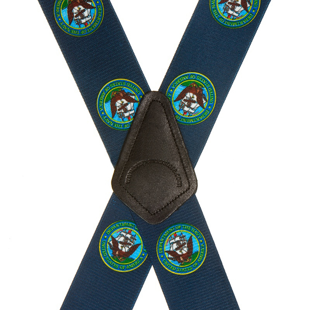 US Navy Military Suspenders - Rear View