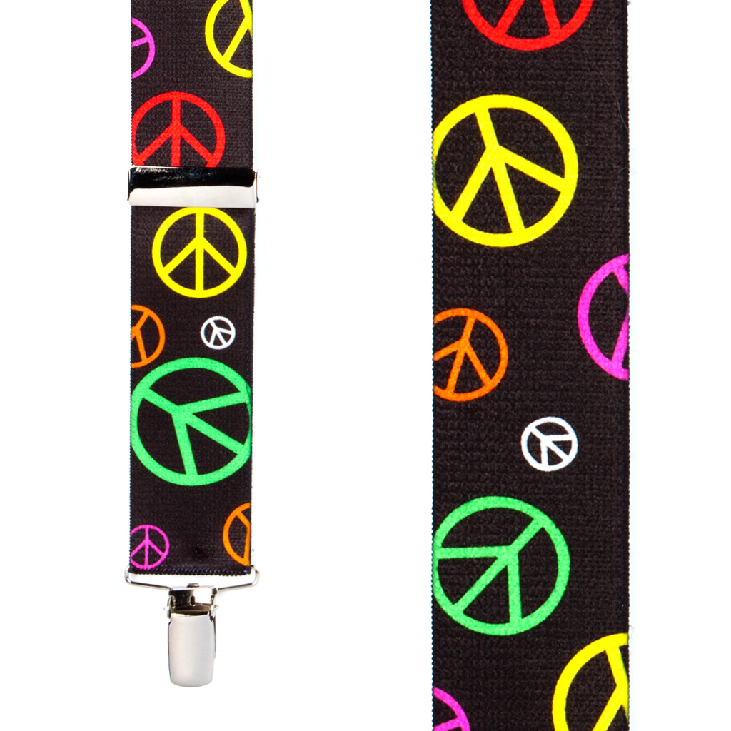 Peace Sign Suspenders - Front View