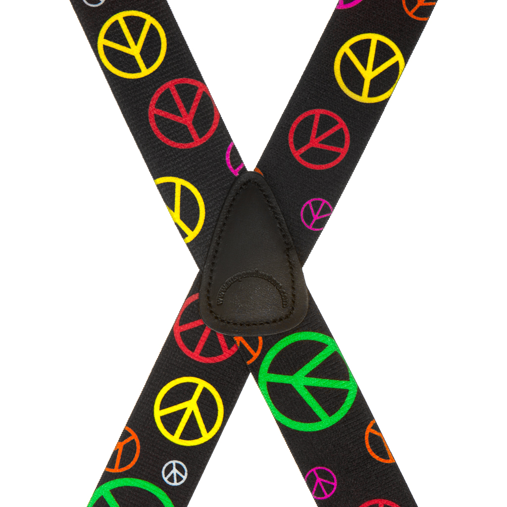 Peace Sign Suspenders - Rear View