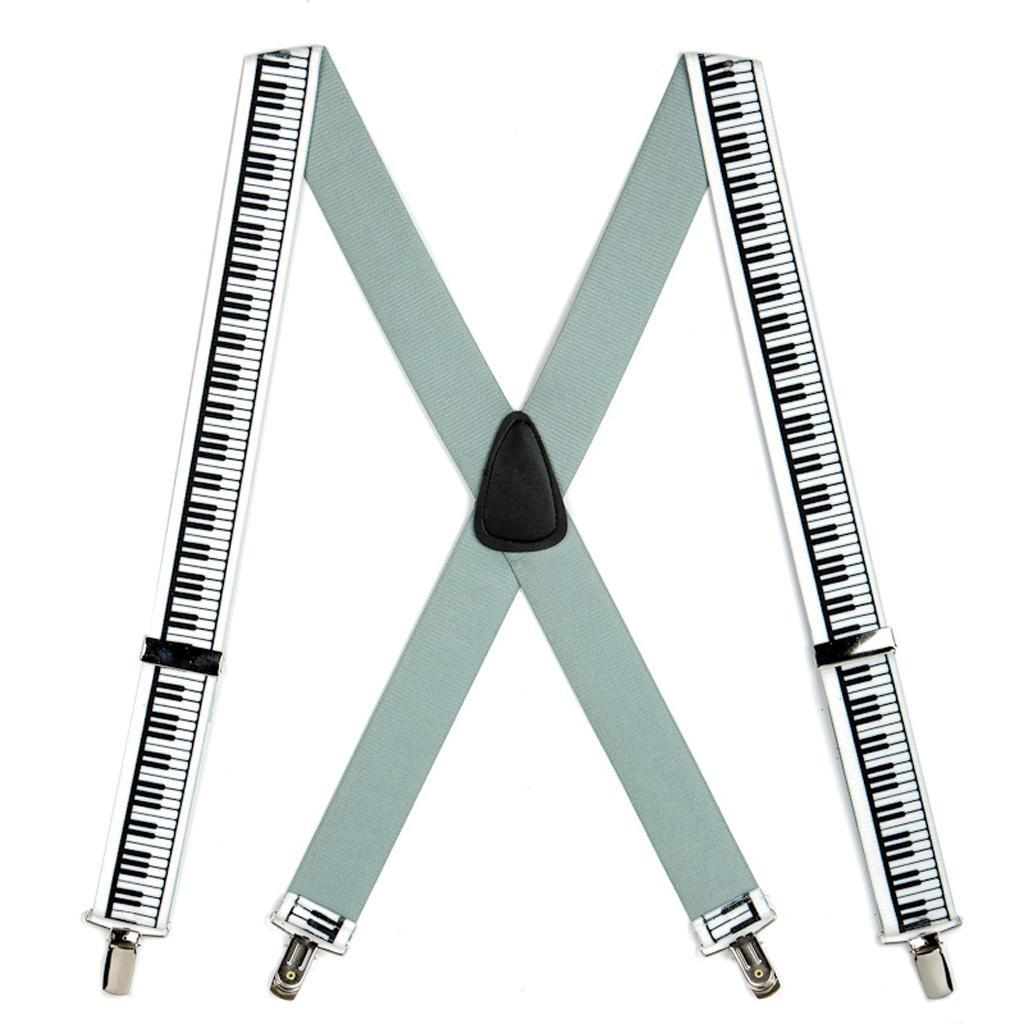 Piano Keys Suspenders - Full View