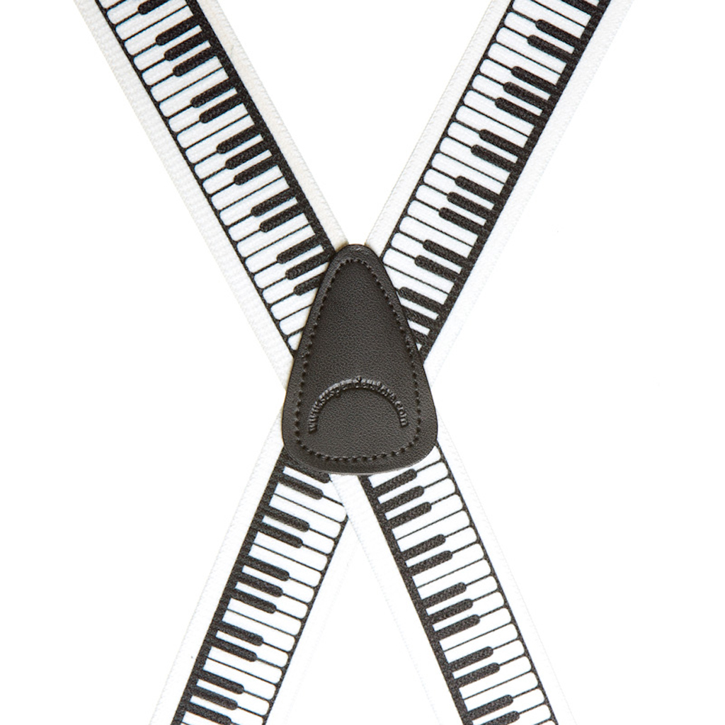 Piano Keys Suspenders - Rear View