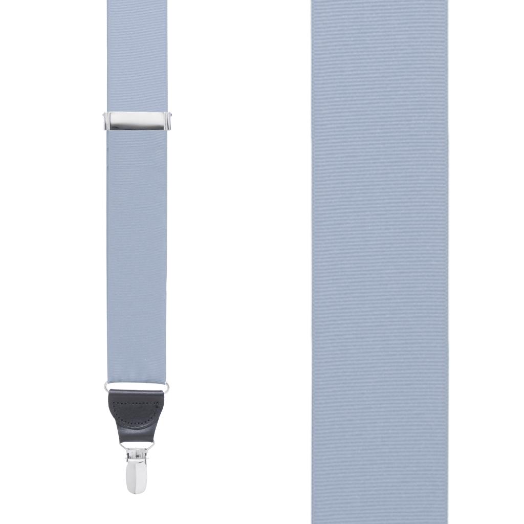Grosgrain Clip Suspenders - Steel Blue Front View
