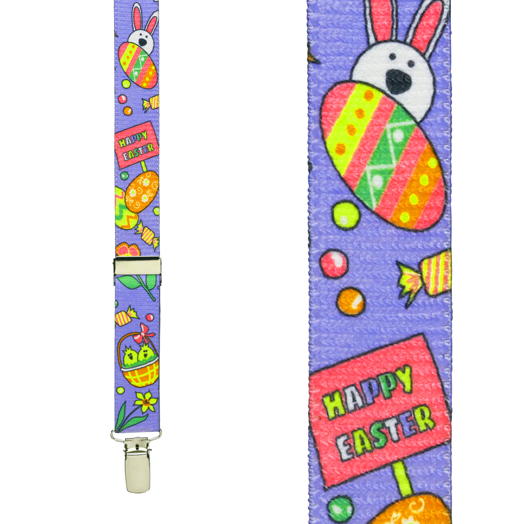 Kids' Easter Suspenders - Front View