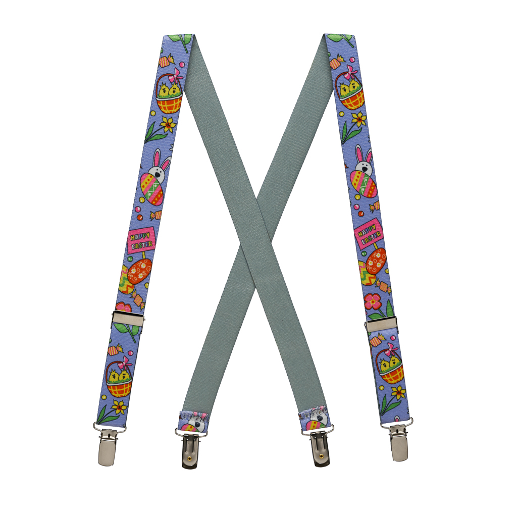 Kids' Easter Suspenders - Full View